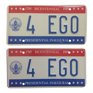 Presidential Inaugural License Plates 1989