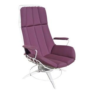 Homecrest Mid-Century Modern Swivel Chair W/ Sunbrella Cushion