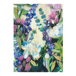 """Garden 9"" Bohemian Contemporary Flower Garden Painting"