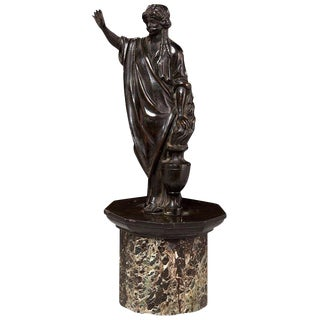 18th Century Continental Bronze Figure of Gagged Justice For Sale