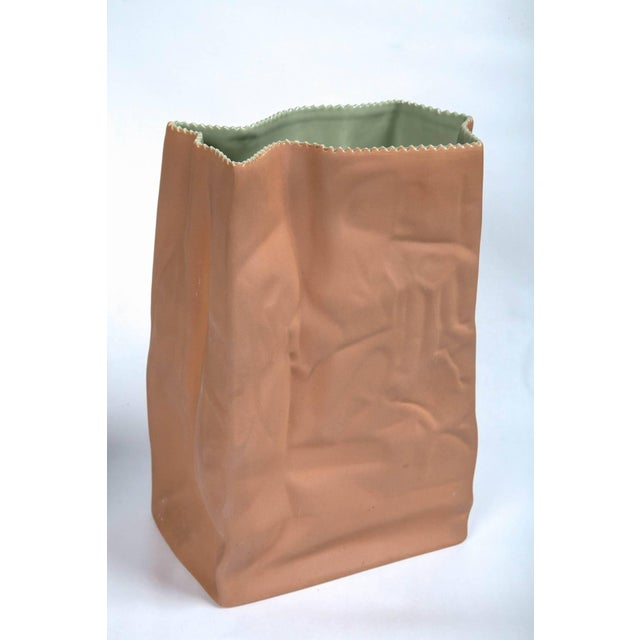 1970s Vintage Paper Bag Vases by Tapio Wirkkala, Rosenthal, Finland, Circa 1970s For Sale - Image 5 of 11
