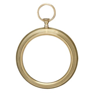 French Brass Vintage Pocket Watch Mirror For Sale