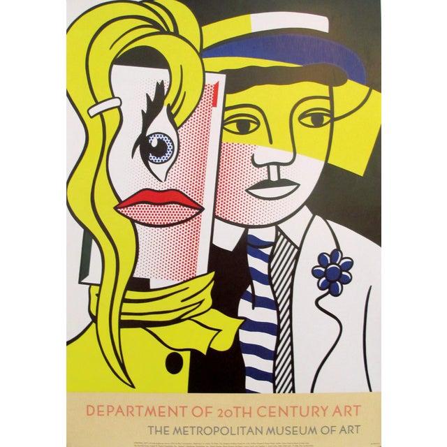 1980s 1986 Original Roy Lichtenstein Poster, Department of 21st Century Art, Metropolitan Museum For Sale - Image 5 of 5