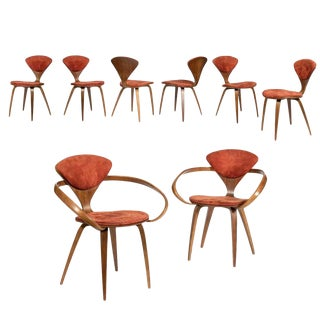 Modern Norman Cherner Dining Chairs- Set of 8 For Sale