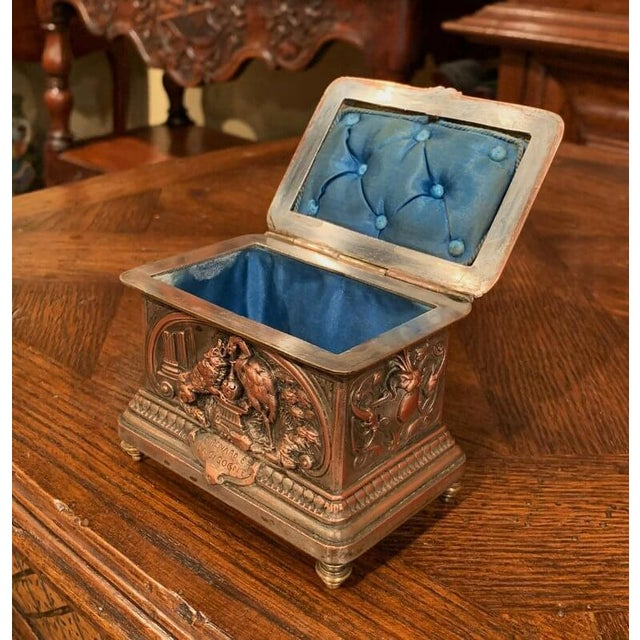 Place this elegant, antique Napoleon III copper box in your master bath to keep your jewelry safe and organized. Crafted...