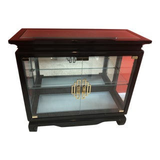 Century Furniture Illuminated Chin Hua Display Cabinet For Sale