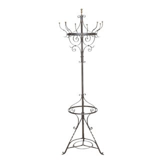 Wrought Iron Hat/Coat Stand For Sale