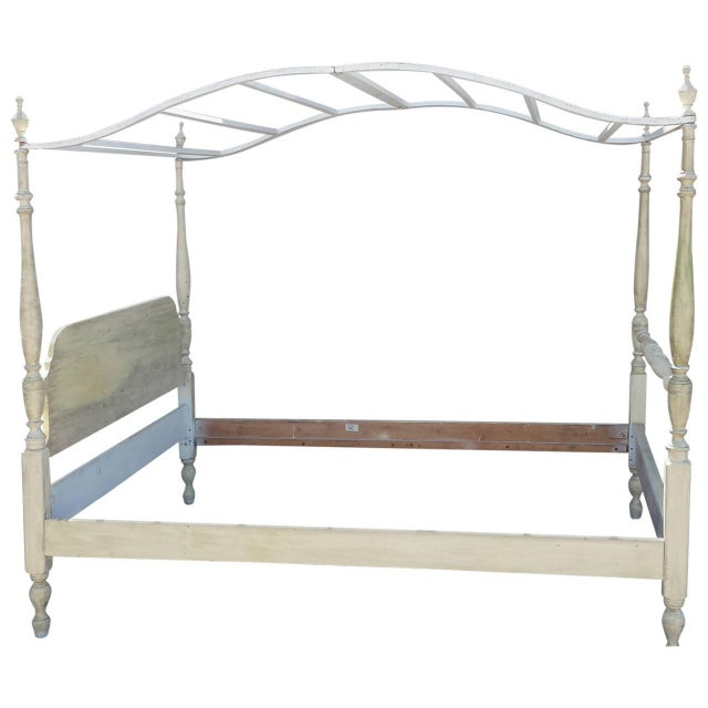 Canopy Bed, Painted French Country Style For Sale