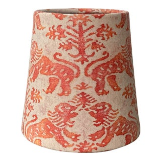 Fortuny Richelieu Pattern Fabric Chandelier Shade For Sale