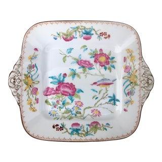 "Wedgwood Rare Original Hand-Painted Chinoiserie ""Cuckoo Bird"" Pattern X7655 Cake Plate For Sale"