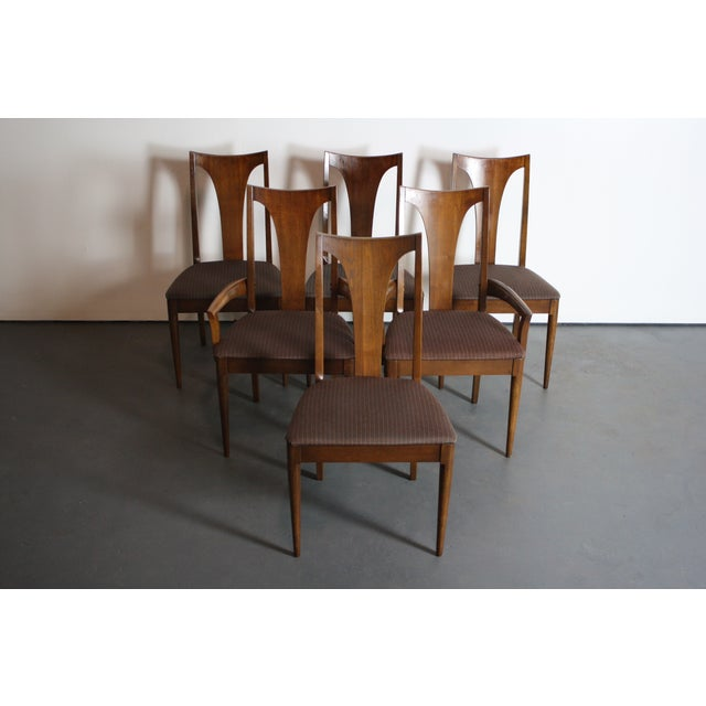 Broyhill Brasilia Walnut Dining Chairs - Set of 6 For Sale - Image 5 of 11