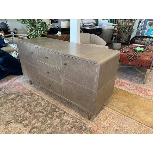 Mid-Century Modern Mid-Century Modern Leather Buffet For Sale - Image 3 of 6