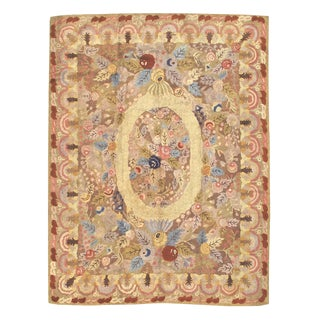 American Hooked Rug - 7′10″ × 10′ For Sale
