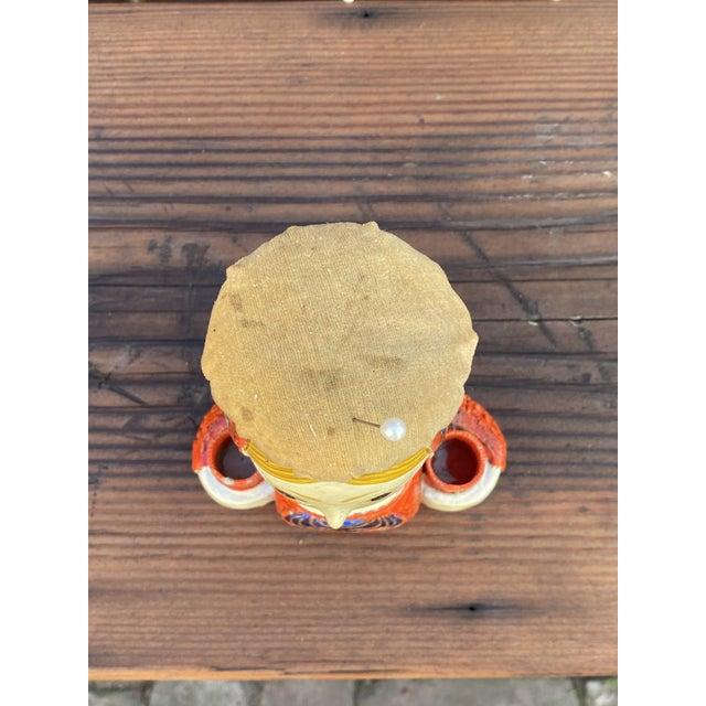 Orange Gemma Taccogna Paper Mache Lady Pin Cushion Doll For Sale - Image 8 of 9