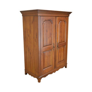 """Ethan Allen """"Maison"""" Collection French Country Style Cherry Tv Armoire Cabinet For Sale"""