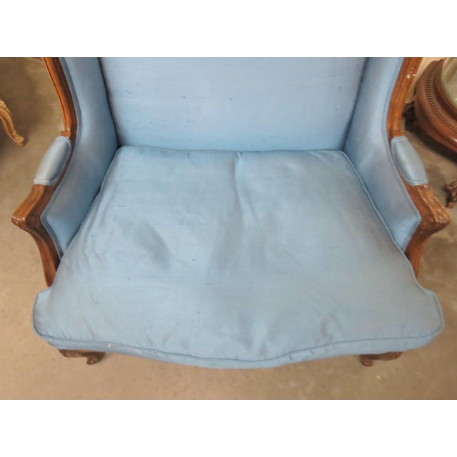 Louis XVI Style Upholstered Bergeres For Sale - Image 4 of 5
