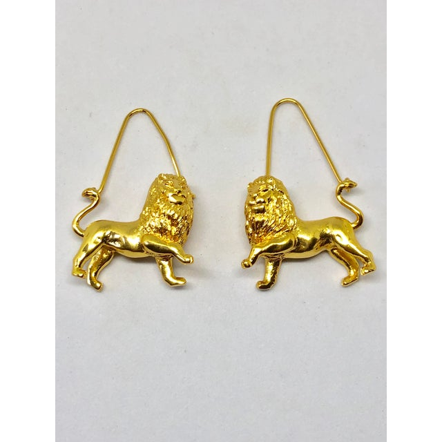 Contemporary Givenchy Leo/Lion Zodiac Dangle Earrings For Sale - Image 3 of 3
