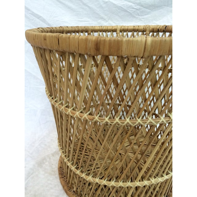 Rattan Wastebasket - Image 3 of 6