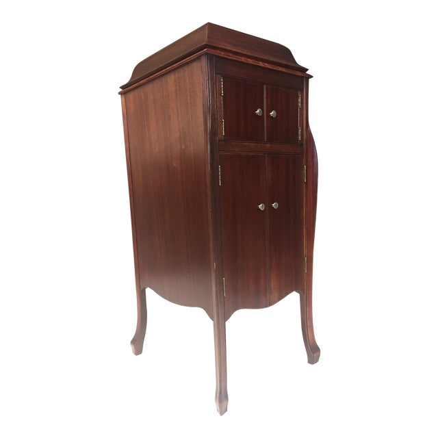 Antique Victrola Wood Record Player Cabinet - Antique Victrola Wood Record Player Cabinet Chairish