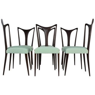 Vintage Italian Dining Chairs Attributed to Guglielmo Ulrich - Set of 6 For Sale