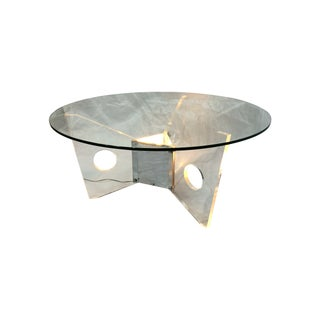 Light-Up Lucite Coffee Table