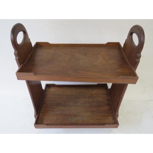 On Hold 1920s Trestle Side Table - Image 3 of 7