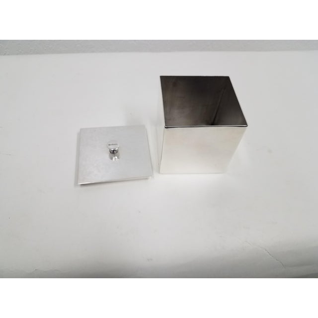 1990s Carluccio Vintage Silverplate Box For Sale - Image 5 of 9