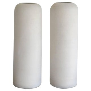 Pair of Postmodern Organic Form Hand Thrown Vases For Sale