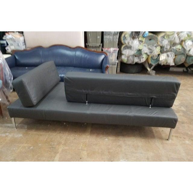 Modern 1990's Vintage Tacchini Pietro Arsorio Happy Hour Black Leather Sofa For Sale - Image 3 of 9