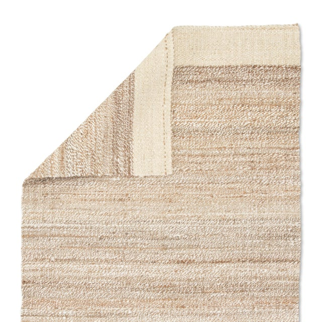 Jaipur Living Mallow Natural Bordered White/ Tan Area Rug - 9′ × 12′ For Sale - Image 4 of 6