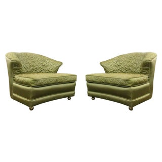 Pair of Regency Slipper Lounge Chairs For Sale