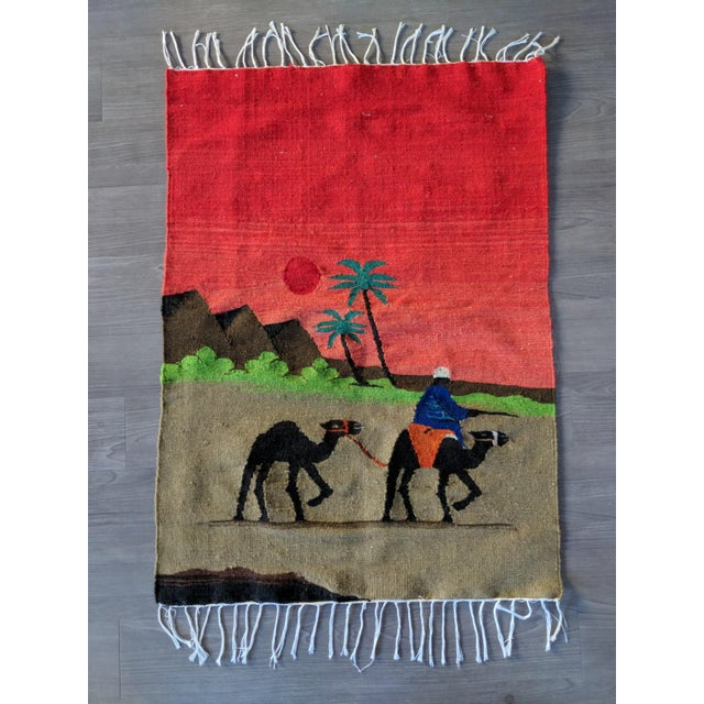 Egyptian Handmade Wall rugs, Made with wool and can be hanged on the wall or used as a normal rug.