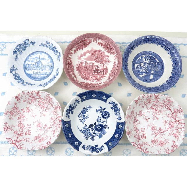 Mismatched Ironstone China Set, Service for 6 For Sale - Image 9 of 11