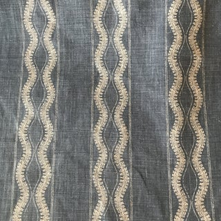 Peter Dunham Zanzibar Indigo Linen Fabric- 4 Yards For Sale