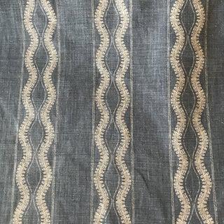 Peter Dunham Zanzibar Indigo Linen Fabric- 4 Yards For Sale