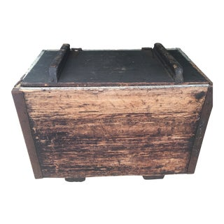 Antique Zinc Lined Wood Icebox For Sale