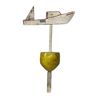 New England Lobster Buoy With Weathervane For Sale