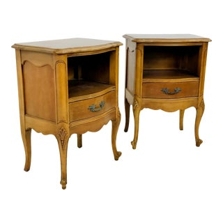 Louis XV Style French Provincial Nightstands - a Pair For Sale