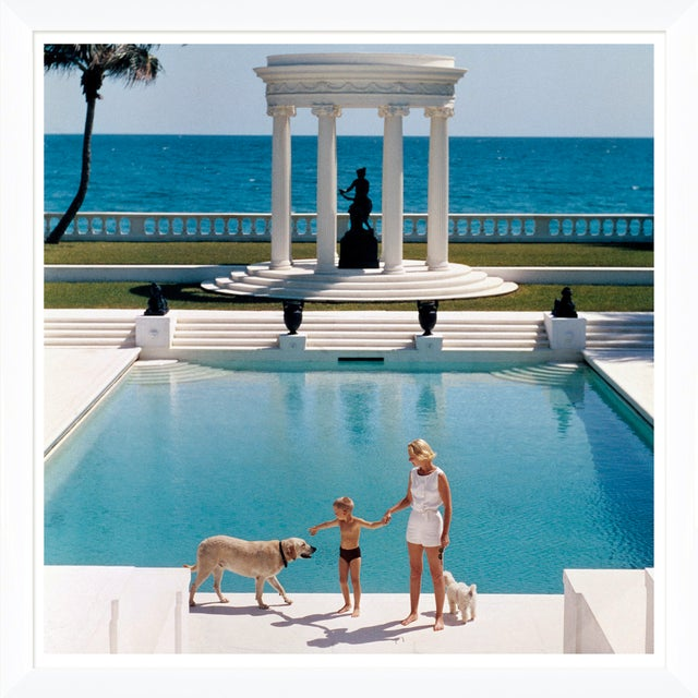 "Slim Aarons Slim Aarons, ""Nice Pool,"" January 1, 1955 Getty Images Gallery Art Print For Sale - Image 4 of 5"
