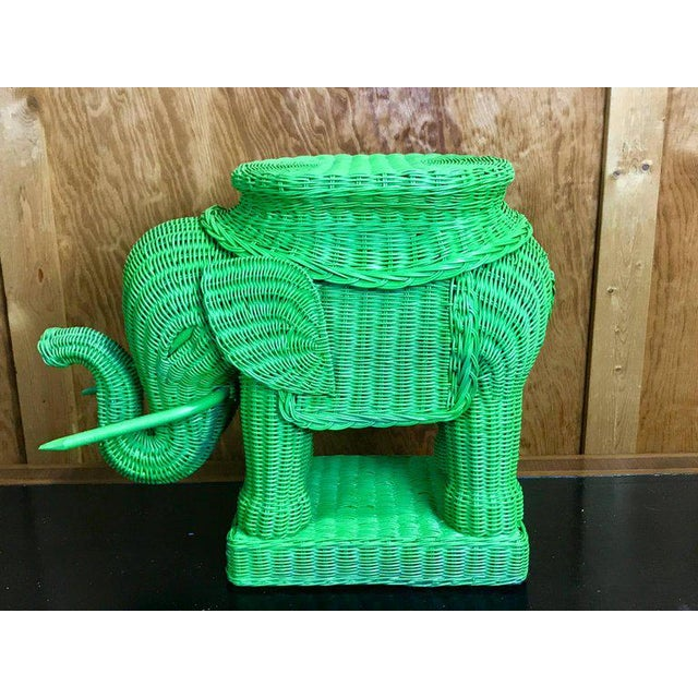 Chinese Export Polychromed Wicker Elephant Garden Seats - a Pair - Image 2 of 10