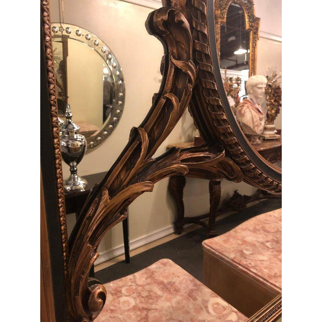 Finely Carved Hollywood Regency or Adams Style Over the Mantle or Wall Mirror For Sale - Image 12 of 13