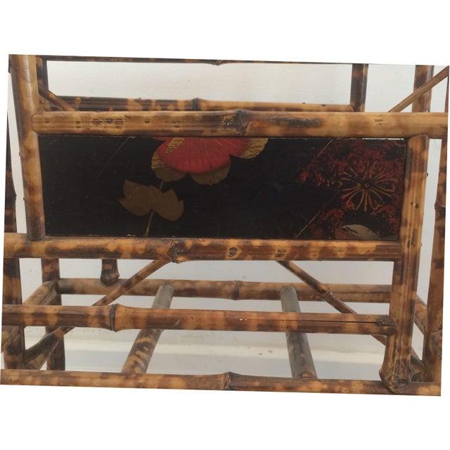 19th Century Boho Chic Bamboo Magazine Rack For Sale - Image 4 of 9