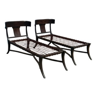 Modern Medellin Mid-Century Style Chaise Lounges. - a Pair For Sale