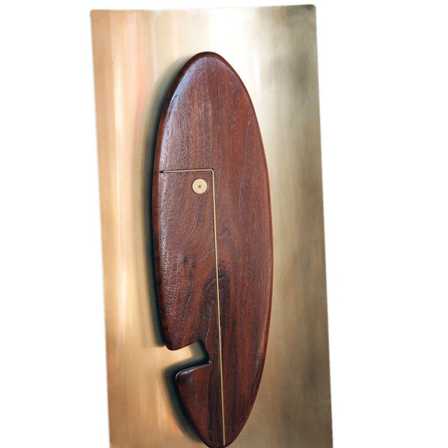"""Mid-Century """"Face"""" Wall Art Sculpture Pair by Westwood Chadwick For Sale - Image 5 of 6"""