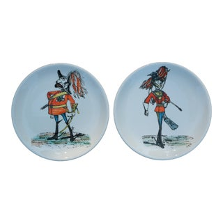 Bucciarelli Soldier Caricature Coasters, Set of 2 For Sale
