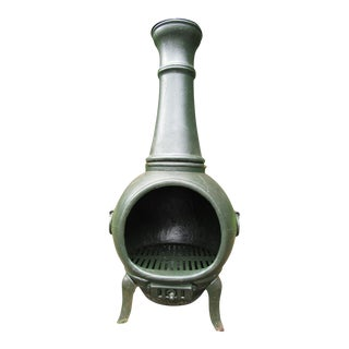 Cast Iron Chiminea or Stove For Sale