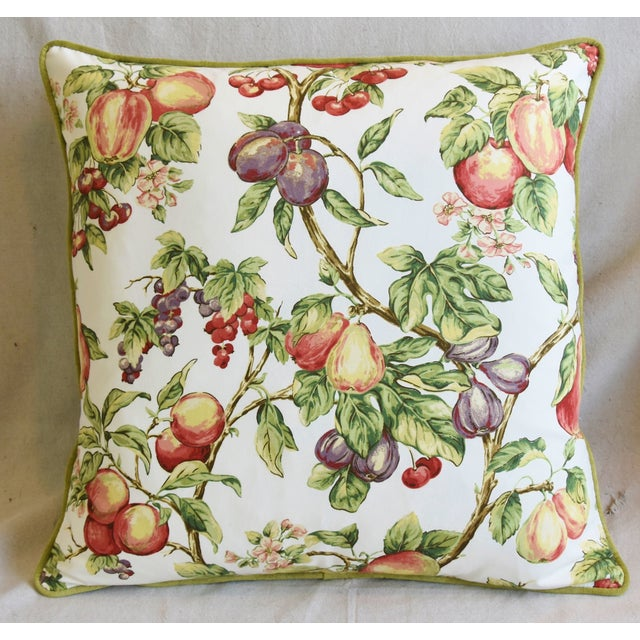 "Americana P. Kaufmann Bountiful Fruit Feather/Down Pillows 24"" Square - Pair For Sale - Image 3 of 13"