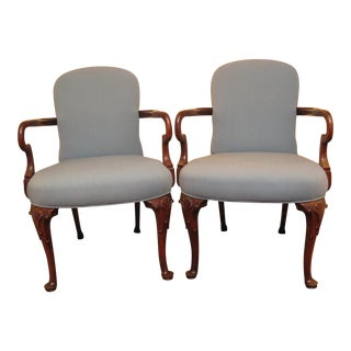 1980s Southwood Reproductions 722 Queen Anne Chairs- a Pair For Sale