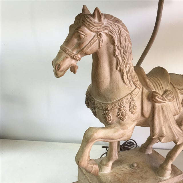 1940s Plaster Lamp of Imperial Horse - Image 4 of 8