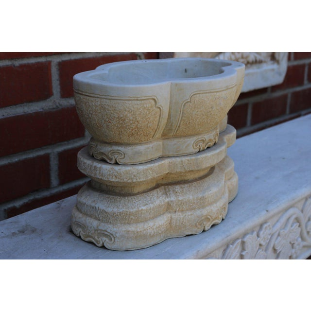 Asian 2-Part Stone Water Container For Sale - Image 3 of 7